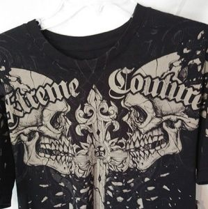 Xtreme Couture Black Smash Tee Men's L Shirt